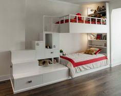 the best bunk bed idea! lit mezzanine enfants