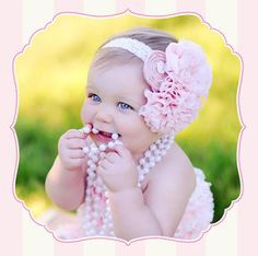 Cupcake Couture Raw Silk and Chiffon Headband, Pink, Sparkly, Baby Girl, First Birthday, Photography Prop