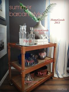 RELAXED SUMMER RESTYLE - Thrifted barcart  for only $5! Lynda Quintero-Davids aka NYCLQ of  #FocalPointStyling