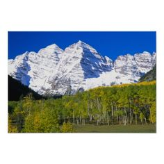 Maroon Bells with autumn aspen forest. Gunnison National Forest (pinned by haw-creek.com)