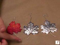 How to Make Silver Leaf Fall #Earrings