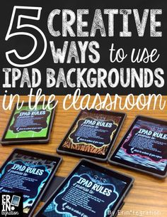 5 WAYS TO UTILIZE IPAD BACKGROUNDS & Teaching Technology, Technology Integration, Educational Technology, Technology Tools, Educational Websites, Ipad Rules, Classroom Organization, Classroom Management, Classroom Ideas