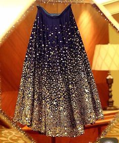 Check out this post - BLUE LEHENGA WID MIRROR WORK..!! created by Malika and top similar posts, trendy products and pictures by celebrities and other users on Roposo.
