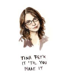 Funny Card  Tina Fey'k it Til You Make it  Bad by HeatherBuchanan