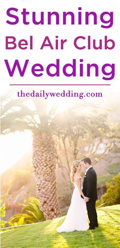 Such a sophisticated wedding! View the full wedding here: http://thedailywedding.com/2015/12/12/stunning-bel-air-bay-club-wedding-hayley-mike/