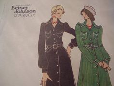 Vintage 1970's Butterick 3284 Betsey Johnson Dress by TheLastPixie