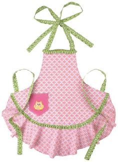 Dena Peking Handicraft Adult Full Happi Owl Apron, Pink:Amazon:Home & Kitchen