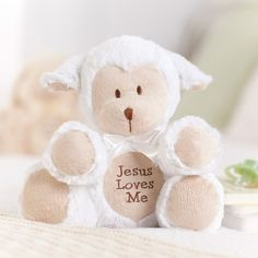 Jesus Loves Me plush lamb.