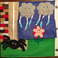 Crafts from a not-so-crafty Mom: Quiet book: Itsy Bitsy Spider