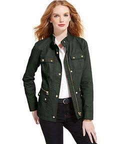8fb131ee626 Tommy Hilfiger Coated Jacket   Reviews - Jackets   Blazers - Women - Macy s