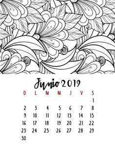 Calendario 2019 – Mama Inventiva Agenda Planner, Desktop Calendar, Origami Box, Calendar Design, Art Sketches, Coloring Pages, Mandala, Bullet Journal, Notes