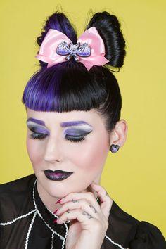 Batty Heart Hair Bow from Ella Mobbs <3 www.beserk.com.au/ellamobbs  #ellamobbs #beserk #hairbow #cute