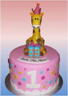 Gâteau de fête 1 an Girafe