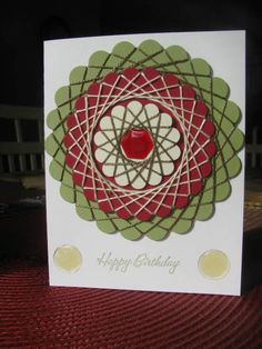 Sprielli by GardenDiva at Splitcoaststampers  nice repetitive effect   visit me at My Personal blog: http://stampingwithbibiana.blogspot.com/