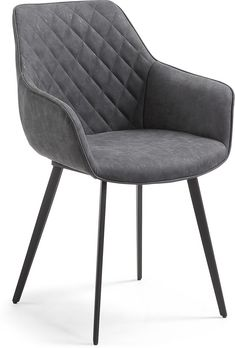 Chaise Amira graphite - Kave Home Dining Arm Chair, Dining Room Furniture, Comfy Armchair, Cantilever Chair, Interiors Online, Australia Living, Home Office Design, Upholstered Chairs, Modern Chairs