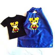 Team Super Animals - Sharp Tiger Toddler T-Shirt & Blue Cape Combo by micielomicielo on Etsy