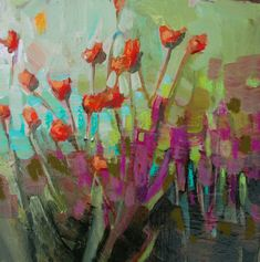 View fine art paintings by painter Jill Van Sickle, including currently available work, newest work, botanical paintings, landscape paintings and abstracts. Art Floral, Small Paintings, Art Paintings, Floral Paintings, Encaustic Art, Flower Art, Art Flowers, Acrylic Art, Painting Inspiration