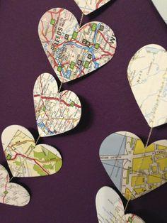 Map Heart Garland £5.49