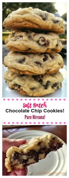 OMG Soft Batch Chocolate Chip Cookies Pure Nirvana The Baking ChocolaTess Cookie Recipes Brownie Desserts, Just Desserts, Delicious Desserts, Light Desserts, Food Truck Desserts, Easy Chocolate Desserts, Healthy Chocolate, Delicious Chocolate, Coconut Dessert