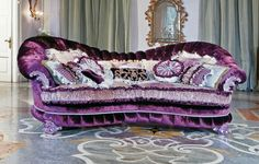 I LOVE~LOVE THIS GORGEOUS PURPLE COUCH!!!! <3