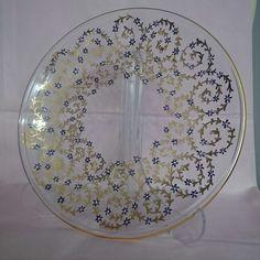 Altınlı haliç işi cam tabağım