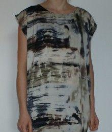 Won Hundred grafisk kjole