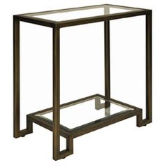 26W  14D  26H - Worlds Away Domino Bronze Side Table