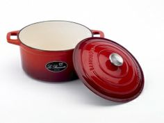 Braadpan gietijzer 24cm Rood  Le Beausette