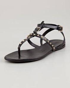 7561007a36b2a7 Saber-21 Jeweled Strappy Flat Sandal