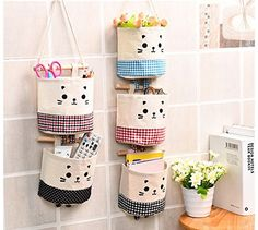 Midmade Linen Cotton Fabric Wall Hanging Storage Organizer Bag Set Square Pouch by Midmade, http://www.amazon.co.uk/dp/B01N5NL9ZP/ref=cm_sw_r_pi_dp_x_7KoCzb31DTFCY