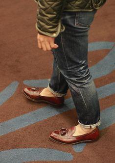 Why I love tasseled loafers.