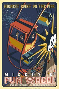 Disneyland Mickys Fun Wheel Poster 1956 8 1 2 X 11 Art Disney, Disney Love, Disney Magic, Disney Parks, Disney Stuff, Vintage Disney Posters, Vintage Disneyland, Retro Posters, Disneysea Tokyo