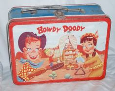 Howdy Doody Metal Lunch Box by capraistic on Etsy Lunch Box Thermos, Vintage Lunch Boxes, Cool Lunch Boxes, Metal Lunch Box, Vintage Tins, Lunch Bags, Metal Box, Vintage Stuff, Vintage Metal