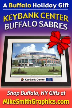 Drawing of KeyBank Center, home of the NHL Buffalo Sabres. Limited Edition pen and ink prints are available from $29. #MikeSmithGraphics #KeyBankCenter #BuffaloSabres #wallart #penandinkdrawing #Sabresgift #Sabresfan Key Bank, Buffalo Sabres, Limited Edition Prints, Nhl, Holiday Gifts, Wall Art Prints, Drawings, Xmas Gifts, Sketches