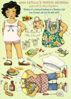 Mary Engelbreit -Georgia-https://flic.kr/p/8uKSvv | PetitPoulailler Mary Engelbreit Paper Doll, Georgia | Georgia Back Yard Barbeque