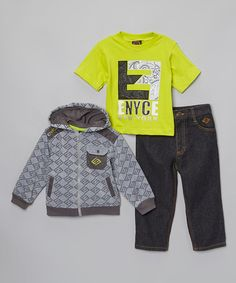 Take a look at this Gray Pocket Hooded Jacket Set - Infant, Toddler & Boys on zulily today!