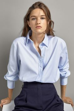 Mode Outfits, Fashion Outfits, Chemise Fashion, Business Casual Outfits, Preppy Style, Work Fashion, Shirt Blouses, Women's Shirts, Clothes For Women