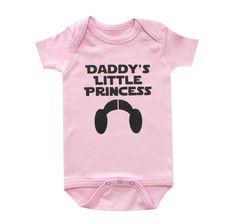 Star Wars, Daddy's Little Princess Funny Baby Clothes, 100% Cotton, handmade #Handmade #AllSeasonCasualDressyEverydayHoliday