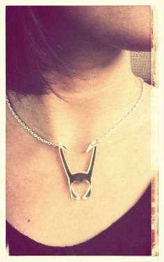Loki Necklace {For Irene. He is the god of mischief, after all, and look at her.}