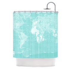"""Catherine Holcombe """"Welcome to my World"""" Shower Curtain"""