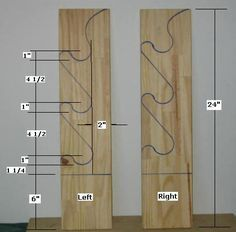 Free Gun Rack Plans - How to Build a Gun Rack - wouldn't use it for guns, but it might be excellent for weapons at camp