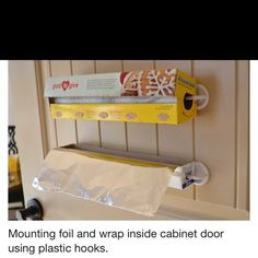 paper towel holders for inside of cabinet