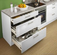 White Kitchen Drawers kitchen idea of the day: modern two-tone kitchens. (by alno, ag