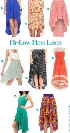 Hi-low skirts & dresses
