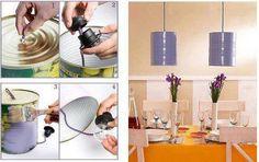 Convierte las latas de alimentos en prácticas lámparas