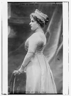 Queen of Spain, 1915  (LOC)  Princess Victoria Eugenie of Battenberg (christened Victoria Eugenie Julia Ena; 24 October 1887 – 15 April 1969) was queen consort of King Alfonso XIII of Spain. She was a granddaughter of Queen Victoria of the United Kingdom and the first cousin of King George V of the United Kingdom, Queen Maud of Norway, Empress Alexandra Feodorovna of Russia, Queen Marie of Romania, Emperor Wilhelm II of Germany, Queen Louise of Sweden, and Queen Sophia of the Hellenes.