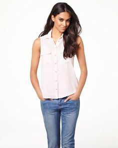Sleeveless silky crepe blouse RW&CO. Summer 2014, Blouse, My Style, Shopping, Collection, Tops, Women, Fashion, Moda