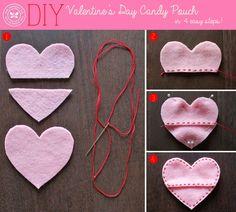 Make a Valentine's Day Gift Pouch in 4 Easy Steps   via The Honest Company blog #honestvalentine2014