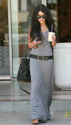 I want it for myself. long jersey dress.