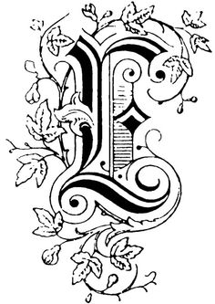 Victorian Lettering Styles | Illuminated manuscript font free wallpapers